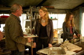 REVOLUTION 'Captain Trips' Episode 212 Pictured Stephen Collins as Dr Gene Porter Elizabeth Mitchell as Rachel Matheson Tracy Spiridakos as Charlie...