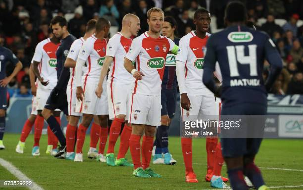Captain Valere Germain of AS Monaco during the French Cup SemiFinal match between Paris SaintGermain and As Monaco at Parc des Princes on April 26...
