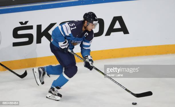 Captain Valtteri Filppula of Finland in action during the 2017 IIHF Ice Hockey World Championship game between Finland and Czech Republic at...