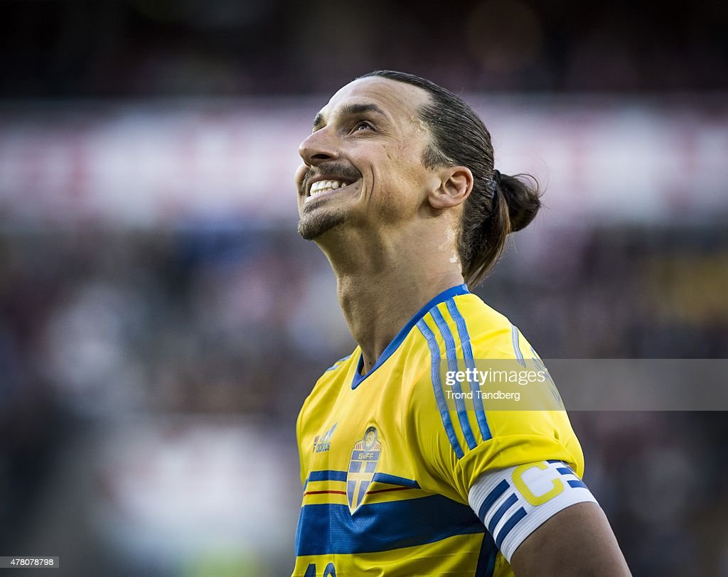 Captain Zlatan Ibrahimovic of Sweden during the International Friendly match between Norway and Sweden at Ullevaal Stadion on June 8 2015 in Oslo...