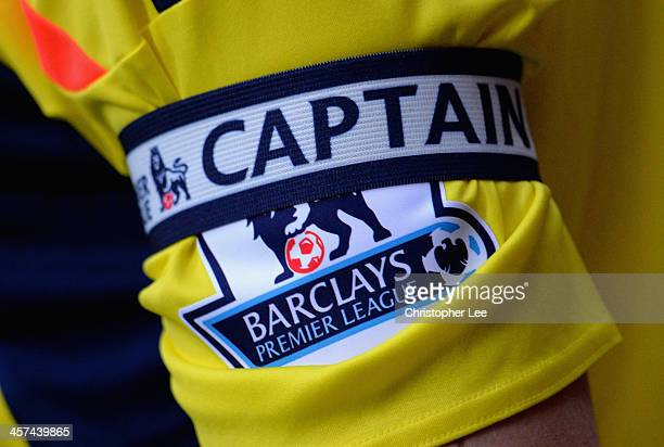 Captains armband and the Barclays Premier League Logo is seen on the arm of John O'Shea of Sunderland during the Barclays Premier League match...