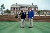 Captains Hale Irwin and David Graham on the clubhouse lawn 1994 Presidents Cup September 1618 1994 Robert Trent Jones GC Prince William County...