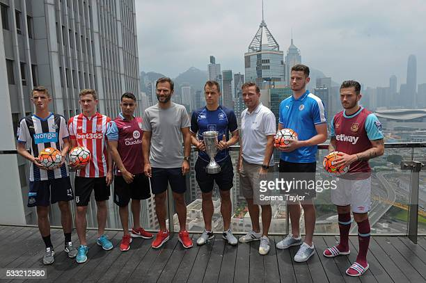 Captains seen LR Dan Barlaser from Newcastle United Lewis Banks from Stoke City Khalid Abdo from Aston Villa Patrick Berger Gary Gheczy from Hong...