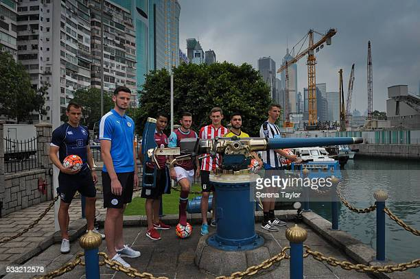 Captains seen LR Gary Gheczy from Hong Kong FC Elliott Moore from Leicester City Khalid Abdo from Aston Villa Lewis Page from West Ham Lewis Banks...