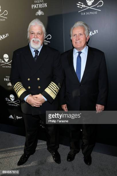 Captian Paul Watson and actor Martin Sheen attend the Sea Shepherd Conservation Society's 40th Anniversary Gala For The Oceans at Montage Beverly...