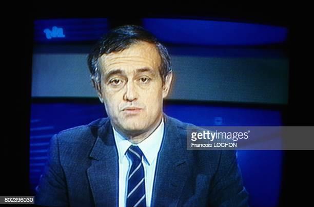 Capture d'écran de télévision de Christian Nucci sur TF1 ancien ministre délégué chargé de la Coopération et du Développement du gouvernement Fabius...