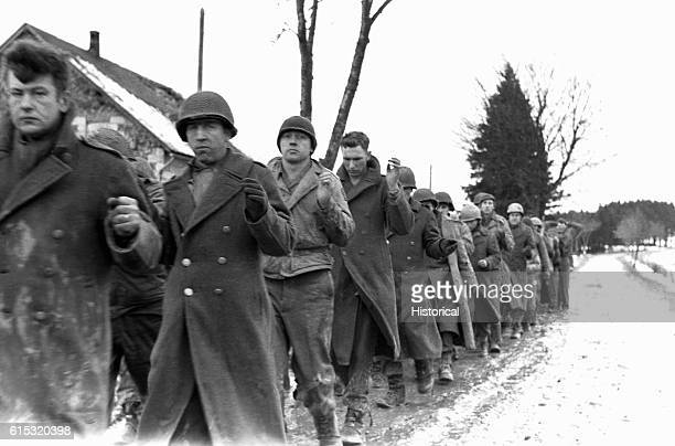 Captured American GI's in the Battle of the Bulge
