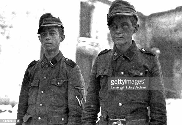 Captured soldiers from the 12th SS Panzer Division of the Hitlerjugend This division was a German WaffenSS armoured division during World War II It...