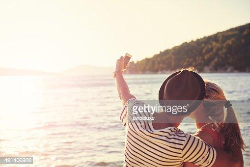 Capturing a blissful beach moment