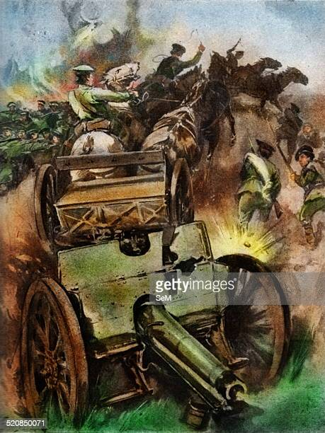 Capturing Austrian guns at Battle of Lemberg As a result of their great victory at Lemberg Russia captured 200 guns and such a huge number of...