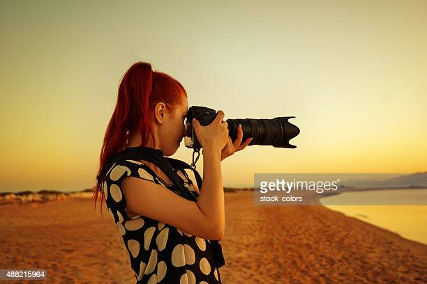 capturing beautiful sunrise