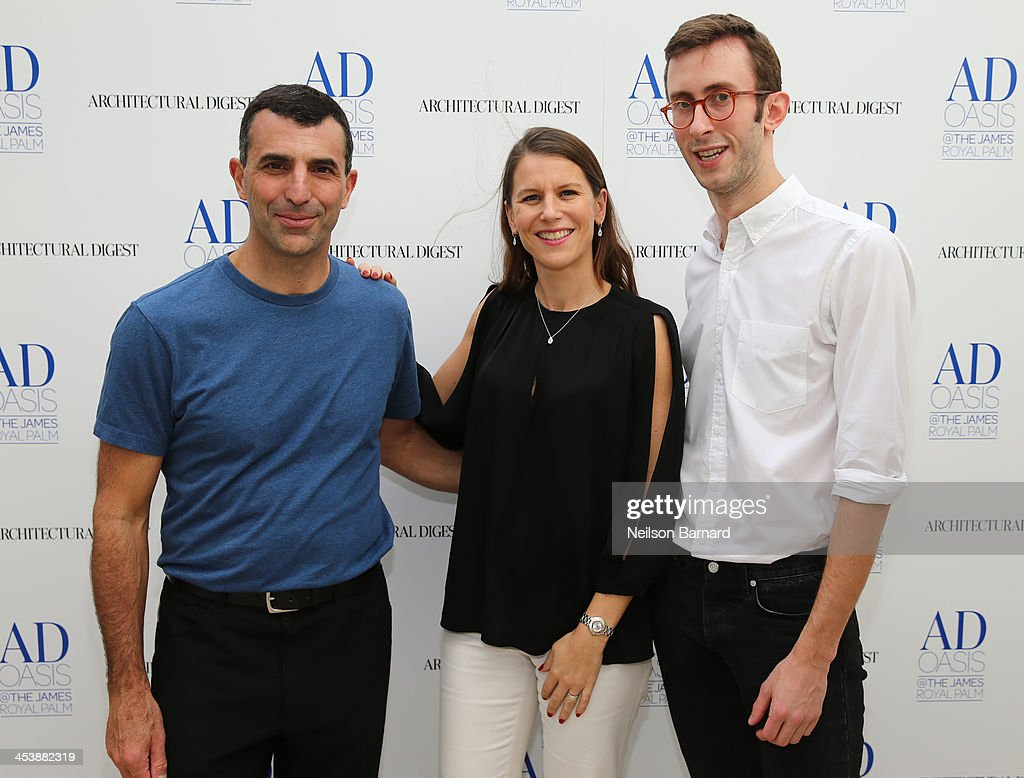 Capua, VP and Publisher Architectural Digest, Sidonie Robert-Degouve, De Beers Managing Director Europe & US and Sam Cochran, Senior Editor Architectural Digest attend AD Oasis Hosts De Beers Breakfast at James Royal Palm Hotel on December 5, 2013 in Miami Beach, Florida.