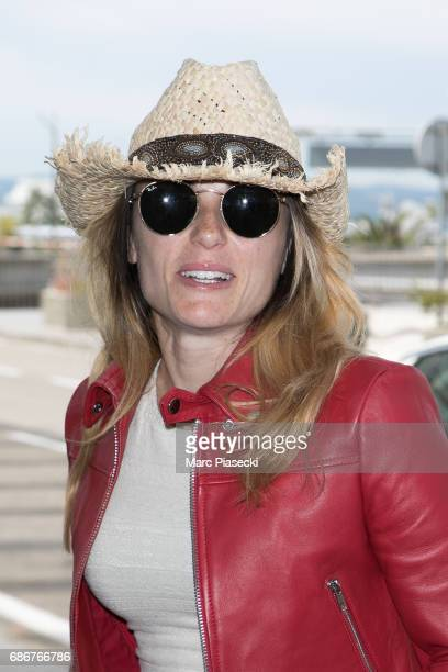 Capucine Anav arrives at Nice airport during the 70th annual Cannes Film Festival at on May 22 2017 in Cannes France