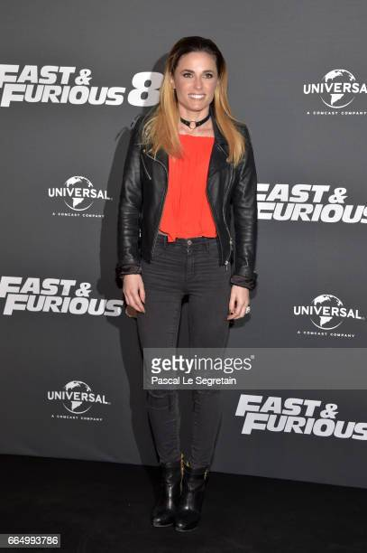 Capucine Anav attends 'Fast Furious 8' Premiere at Le Grand Rex on April 5 2017 in Paris France