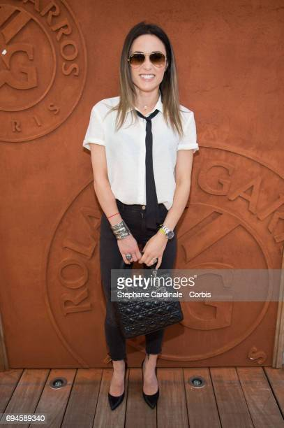 Capucine Anav attends the French Tennis Open Day Fourteen at Roland Garros on June 10 2017 in Paris France
