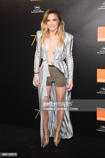Capucine Anav attends the Orange Cine Party during the 70th annual Cannes Film Festival at Palais des Festivals on May 20 2017 in Cannes France
