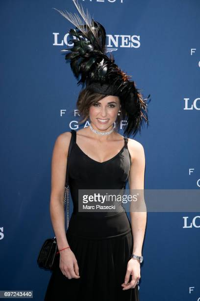 Capucine Anav attends the 'Prix de Diane Longines 2017' on June 18 2017 in Chantilly France