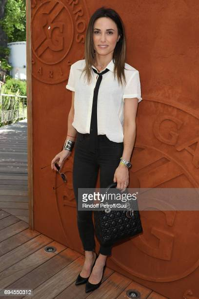 Capucine Anav is spotted at Roland Garros on June 10 2017 in Paris France