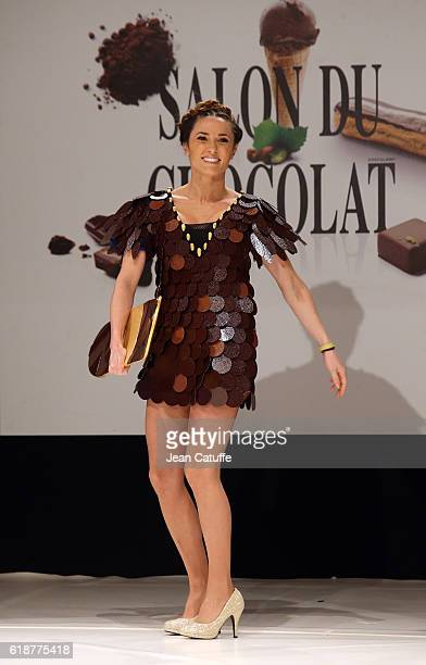 Capucine Anav walks the runway during the Chocolate Fashion Show as part of Salon du Chocolat Paris 2016 at Parc des Expositions Porte de Versailles...