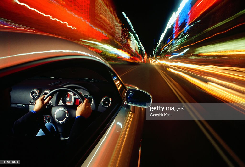 Car and city lights : Stock Photo