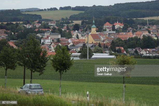 A car approaches the town of Pulsnitz next to farmland on July 24 2017 in Pulsnitz Germany Linda W a German teenager from Pulsnitz was captured by...