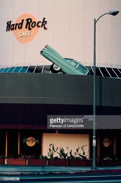 Car Art american artists again the car in Los Angeles United States in June 2007 Following the example of Cadillac Ranch the first of the Hard Rock...