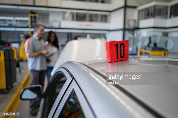 Car at an auto repair shop