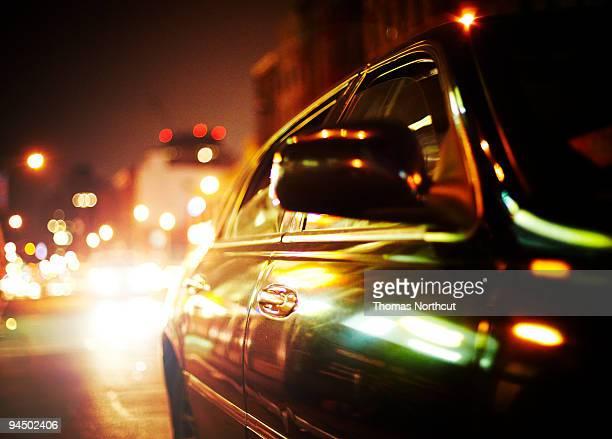 Car at Night in NYC