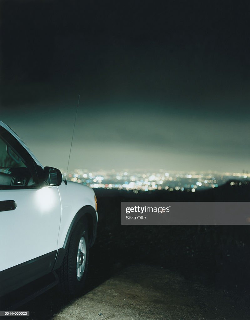 Car at Observation Point : Stock Photo