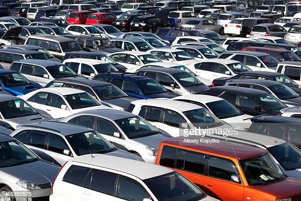 Car auction lot