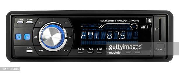 Auto audio-CD-MP3-WMA-USB-SD Empfänger (clipping path), isoliert auf weißem Hintergrund