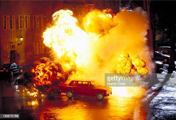 A car bomb detonates in a scene from the film 'Mission Impossible' 1996