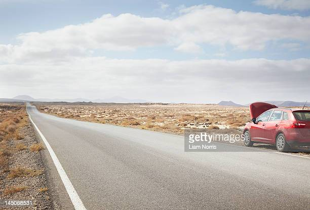 Car broken down on rural road