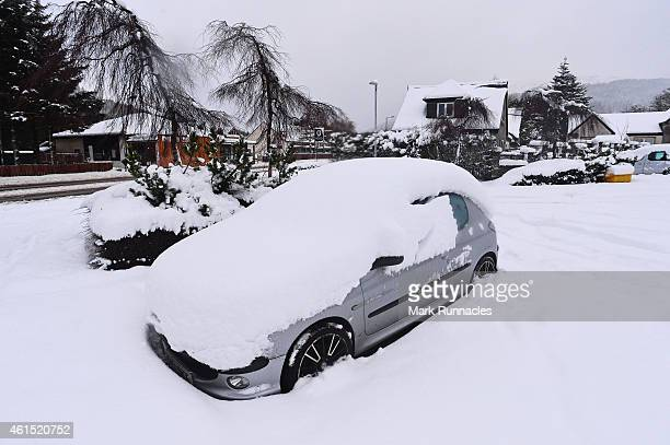A car buried under 46 inches of snow in Tyndrum Stirlingshire The Met Office has issued amber 'be prepared' warnings across central and southern...