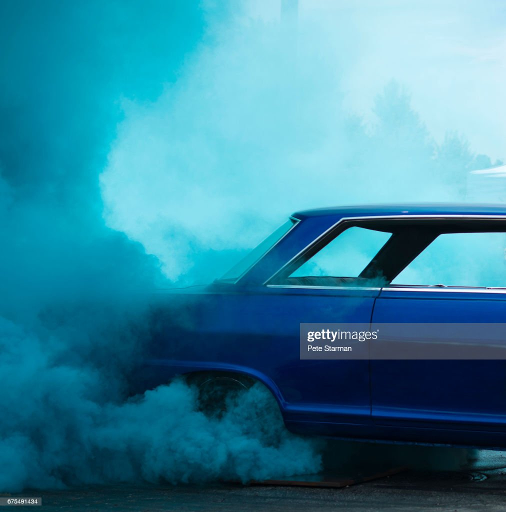 Car burn out competition.