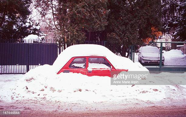 Car concealed by snow