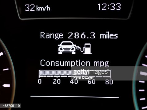 Car consumption gauge