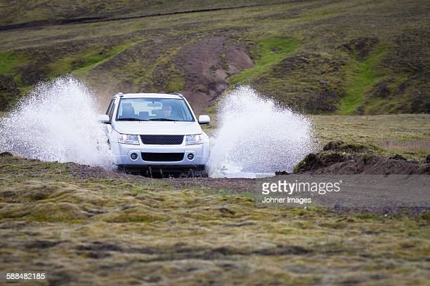 Car crossing water