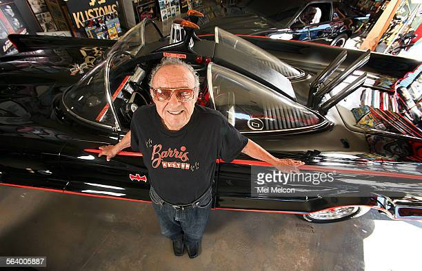 Car customizer George Barris is photographed next to the original Batmobile at Barris Kustom Industries in North Hollywood on October 17 2012 Barris...