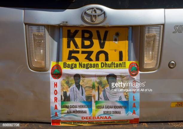Car decorated during the Gada system ceremony in Borana tribe Oromia Yabelo Ethiopia on March 7 2017 in Yabelo Ethiopia