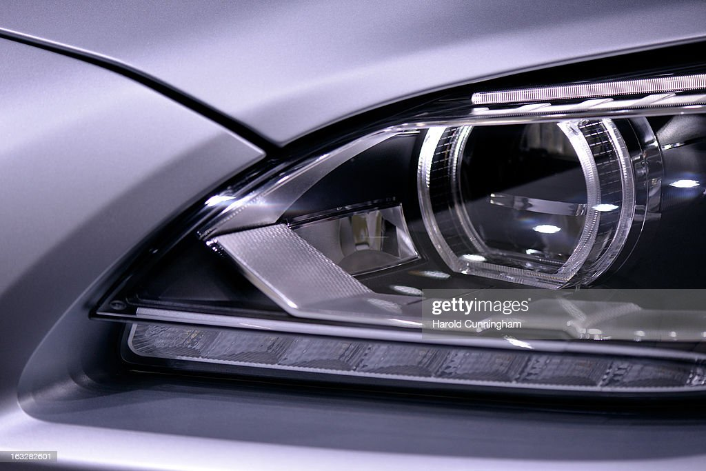 A BMW car detail is seen during the 83rd Geneva Motor Show on March 6, 2013 in Geneva, Switzerland. Held annually with more than 130 product premiers from the auto industry unveiled this year, the Geneva Motor Show is one of the world's five most important auto shows.