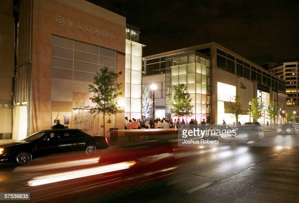 Car drive past the Opening of the Collection at Chevy Chase hosted by Capitol File Magazine May 4 in Chevy Chase Maryland The Collection at Chevy...