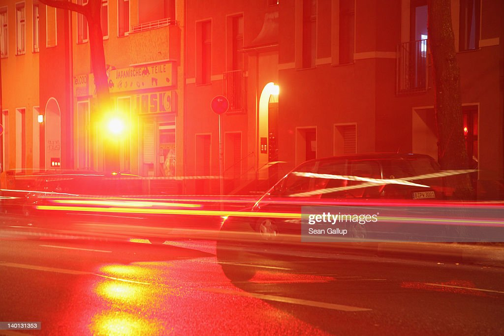 A car driving over the speed limit is flashed by a city speed camera on February 28, 2012 in Berlin, Germany. German Transport Minister Peter Ramsuaer earlier in the day unveiled a new and stricter point system for tracking traffic law violaters in Germany that is much less forgiving than the current system.