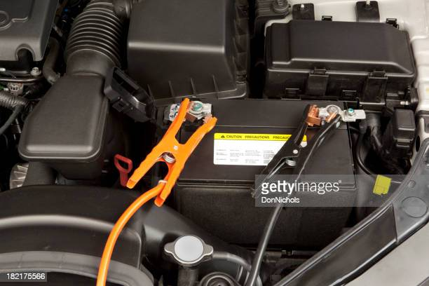 Car Engine and Jumper Cables