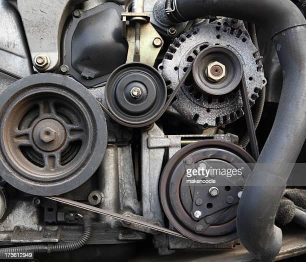 Car Engine Closeup