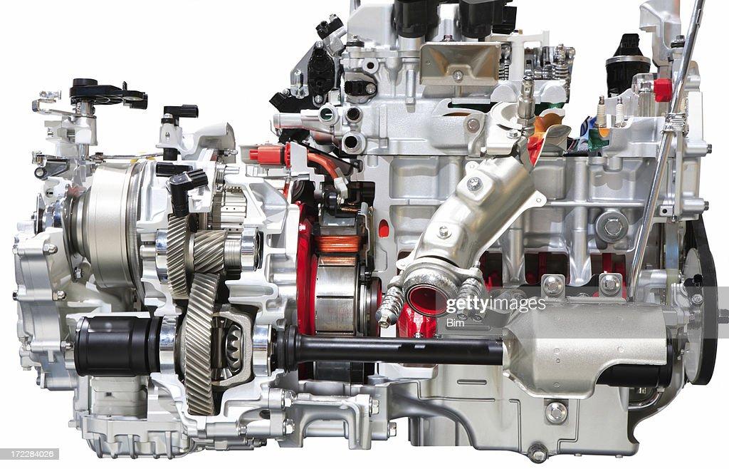 'Car Engine, Isolated'