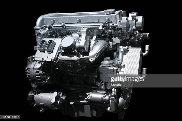 Auto motore su nero