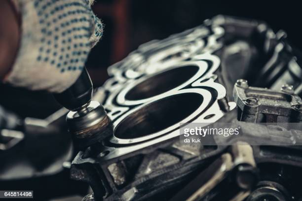 V8 moteur de voiture réparation