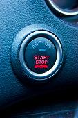 Car engine start button.