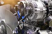 car engine.close up